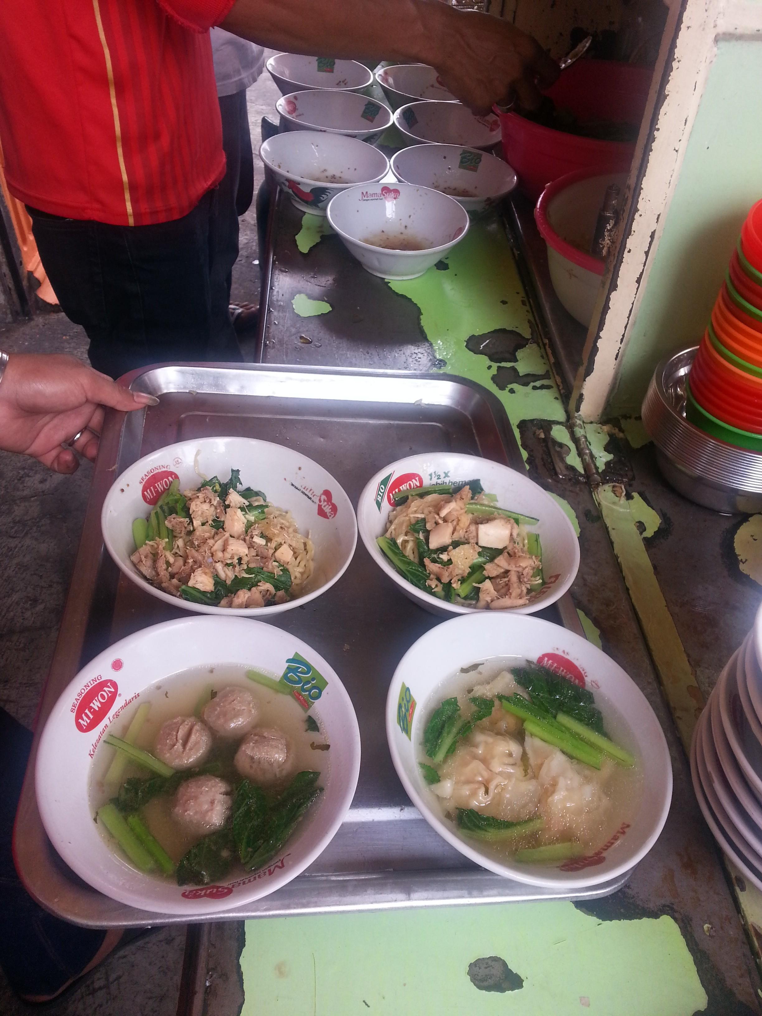 Production line noodles.